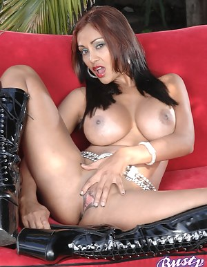 Priay Rai shows her big tits and spreads pussy