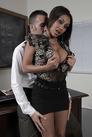 Somehow it all works out just fine, our seductive Indian slut gets fucked by her hung coworker in the classroom while looking positively divine.