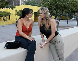 Content of Mason Storm - After the convention let out, we walked across the park towards our hotel room. We both noticed the hot latina babe sitting on a wall across from us. I went over to her and asked her if she would like to join us for a night out...