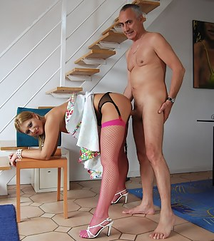Cheap blonde slut loves playing with an experienced cock