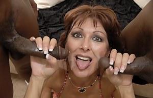 Horny mama craving loads of black cocks