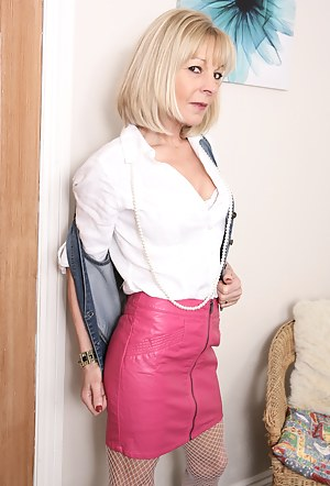 Naughty British housewife getting dirty