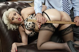 Jenna Ivory looks so fucking classy, but she's actually a total slut. Just watch this oiled-up platinum blonde get her tight asshole ruined.