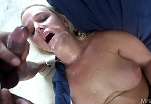 It's Monday morning and I'm horny!  Luckily for you I have a list of guys willing and ready to give me their warm cum. Mr. Siren sent out an email and before you know it I was surrounded by hard cocks all jacking off to me. Nine guys shot their loads on m