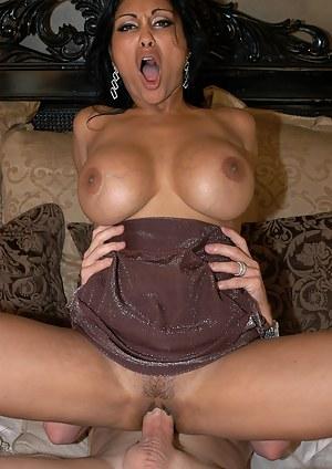 Priya Rai is an exotic big cock loving slut that can't get enough cum unloaded on her huge tits!