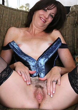 37 year old MILF in hot lingerie strips and spreads her ass and pussy