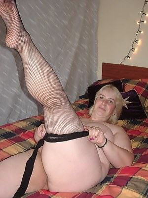 A member called Stephen sent me a white G string and a pair of black fishnet tights and asked me to do a set of pictures