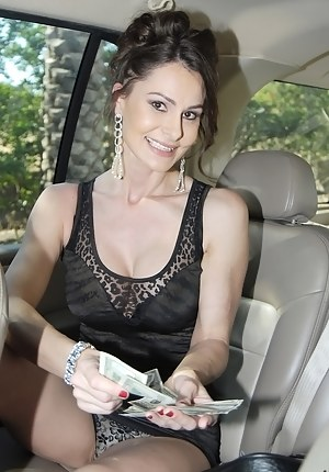 Gorgeous MILF loves making money just fucking with the strangers. This man is ready to offer her big amount of cash for playing with his penis.