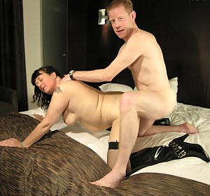 Mature couple fucking and sucking their asses off