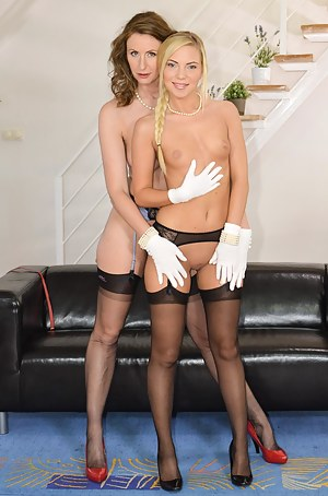 Angie is an angel but Lara makes her the porn star she wants